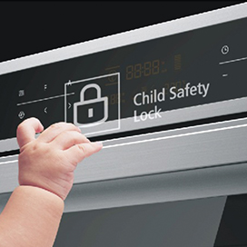 LED DISPLAY & CHILD SAFETY LOCK